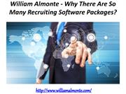 William Almonte - Why There Are So Many Recruiting Software Packages