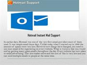 Hotmail Instant Mail Support