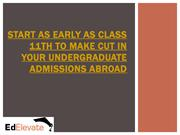 START AS EARLY AS CLASS 11TH TO MAKE