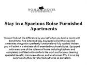 Stay in a Spacious Boise Furnished Apartments