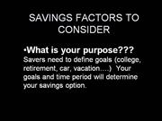 Savings Factors