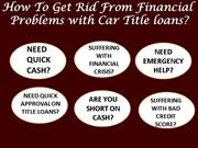 Fast and easy approval on car title loans in Ottawa