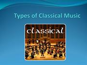 Types of Classical Music - Albert James Burleson