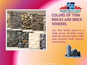 Colors Of Thin Bricks And Brick Veneers
