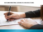 RESUME WRITING SERVICES FOR DOCTORS