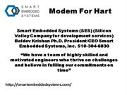 Modem for HART- HART modem- HART devices Solution- HART STACK for cont