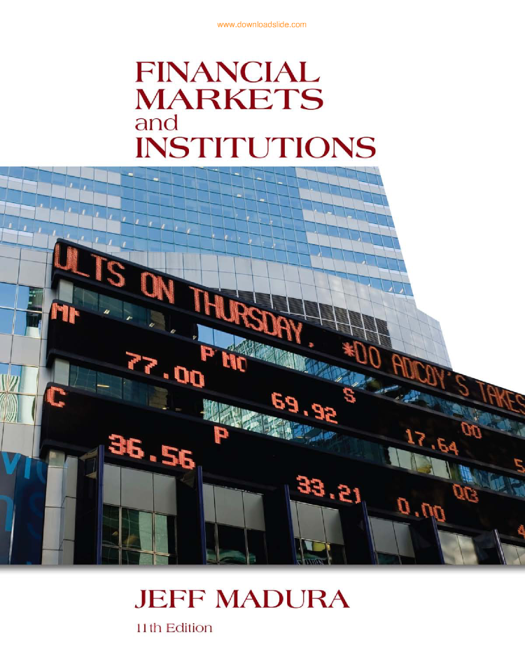 Financial markets and institutions 11th by jeff madura cengage 201 financial markets and institutions 11th by jeff madura cengage 201 authorstream fandeluxe Image collections