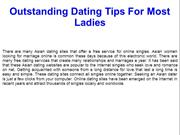 Outstanding Dating Tips For Most Ladies