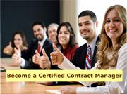 Become a Certified Contract Manager
