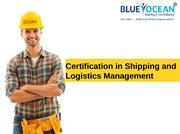 Certification in Shipping and Logistics Management