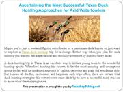 Ascertaining the Most Successful Texas Duck Hunting Approaches