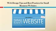 Web Design Tips and Best Practices for Small Business Websites