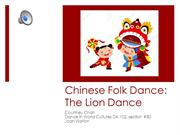 Chinese Folk Dance-The Lion Dance