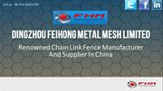 Chain Link Fence Manufacturer And Supplier in China | Wire Mesh Fansa