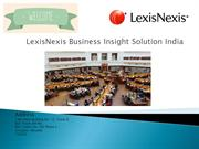 Academic Research Solution, Media Monitoring Solution : LexisNexis BIS