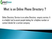 What is an online phone directory?