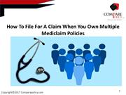 how to file for a claim when you own multiple mediclaim policies