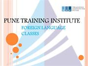 Foreign Language Courses - Classes in Pune | Pune Training Institute