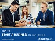 Business Attorney in San Diego – Tips to Start a Business