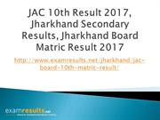 JAC 10th Results 2017