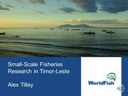 Small-Scale Fisheries Research in Timor-Leste
