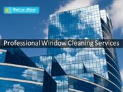 Professional Window Cleaning Services