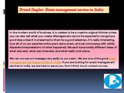 Event Management services, corporate films makers in India