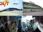 Hifly ICU Air Ambulance Service in Raipur with full ICU Setup