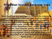 Rajasthan tourism packages india
