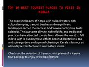 Top 10 Best Tourist Places to Visit in Kerala