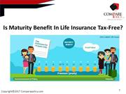 is maturity benefit in life insurance tax free