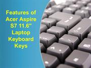 Features of Acer Aspire S7 11.6