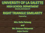 RIGHT TRIANGLE SIMILARITY(012010)