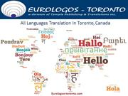 All Languages Translation In Toronto, Canada