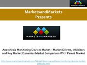 Anesthesia Monitoring Devices Market - Market Drivers, Inhibitors and