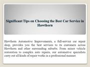 Significant Tips on Choosing the Best Car Service in Hawthorn