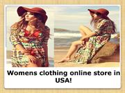 Womens clothing online store in USA!