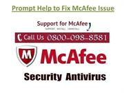 Prompt Help to Fix McAfee Issue
