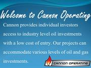 Cannon Operating | Oil and Gas Investing
