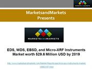 EDS, WDS, EBSD, and Micro-XRF Instruments Market