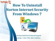 How To Uninstall Norton Internet Security From Windows 7