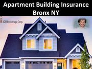 Apartment Building Insurance Bronx NY