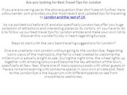 Are you looking for Best Travel Tips for London