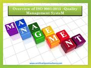 Overview of ISO 9001:2015 - QMS