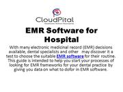 EMR software by CloudPital