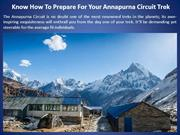 Know How To Prepare For Your Annapurna Circuit Trek