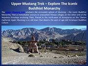 Upper Mustang Trek - Explore The Iconic Buddhist Monarchy