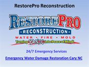Emergency Water Damage Restoration Cary NC