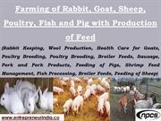 Farming of Rabbit, Goat, Sheep, Poultry, Fish and Pig with Production