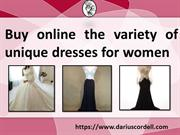 Find custom wedding dresses at Darius Cordell